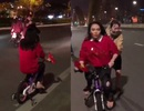 """Giữ lời hứa, nửa đêm Mỹ Tâm cưỡi """"siêu xe"""" lên cầu Rồng chúc mừng U23 Việt Nam"""