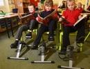 Học sinh tại ngôi trường này có thể vừa ngồi học vừa đạp xe để chống béo phì