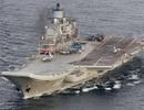 Bến nổi chứa tàu sân bay Nga bất ngờ bị chìm