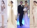 Lan Khuê dẫn đầu top sao đẹp với  4 bộ váy cưới