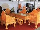 """""""Choáng"""" với bộ bàn ghế 8 tỷ đồng làm từ 50 tấn ngọc"""