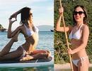 Ái Phương tung bộ ảnh bikini nóng bỏng tạo dáng yoga mừng sinh nhật