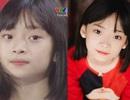 Vẻ đẹp trong sáng như thiên thần của cô bé lên sóng trực tiếp trận Việt Nam - Malaysia