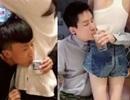 Giới trẻ Trung Quốc rộ trào lưu vòng tay qua eo gái trẻ uống nước