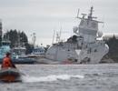 Tàu chiến Na Uy có nguy cơ bị chìm sau va chạm với tàu dầu