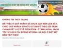 """Trang web của VFF lại """"sập"""" ngay khi vừa mở bán trực tuyến trận chung kết AFF Cup"""
