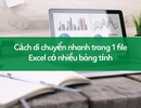 Học tin học excel: Cách di chuyển nhanh trong file có nhiều bảng tính