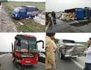 Hành khách nháo nhác nhảy xuống đường sau tai nạn liên hoàn