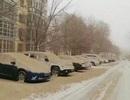 """""""Tuyết vàng"""" hiếm gặp bất ngờ phủ kín vùng Tân Cương, Trung Quốc"""