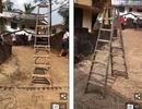 Video: Kỳ lạ cảnh chiếc thang tự biết đi ở Ấn Độ