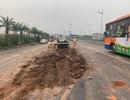 Hà Nội: Truy tìm xe rải bùn đất trên đường khiến 4 ô tô tông nhau