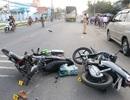 Va chạm liên tiếp, 2 vợ chồng đi xe máy tử nạn