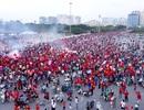Cổ động viên sớm nhuộm đỏ Mỹ Đình trước trận bán kết AFF Cup 2018