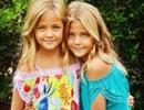 Hai cô bé người mẫu nhí song sinh đẹp như thiên thần