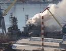 Tàu chiến Nga bốc cháy ở Viễn Đông