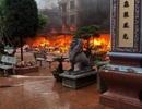 Đền Mẫu Đồng Đăng cháy ngùn ngụt ngày mùng 5 Tết
