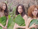"""Trương Quân Ninh, Tiết Khải Kì, Trần Y gây sốc khi """"quấn lá chuối"""" trong phim Trần Bảo Sơn"""