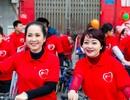 NSND Lan Hương, Trà My đạp xe truyền thông điệp về ung thư