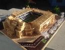 9x dựng mô hình sân đấu của Real Madrid, Chelsea bằng... tăm tre