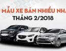 Top 10 mẫu xe bán nhiều nhất tháng 2/2018