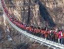 Trung Quốc: Hàng trăm du khách chen chúc trên cầu kính ở độ cao hơn 200m