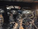 Ngổn ngang xác xe trong tầng hầm chung cư xảy ra vụ cháy khiến 13 người chết