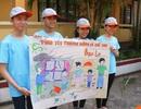 Học sinh dựng tiểu phẩm, vẽ tranh lên án bạo lực thân thể trẻ em