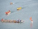 Thú vị xem đua thuyền trên… lòng hồ thủy điện