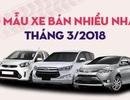 Top 10 mẫu xe bán nhiều nhất tháng 3/2018