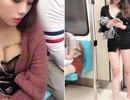 Mặc hớ hênh đi tàu điện, cô gái bất ngờ nổi tiếng