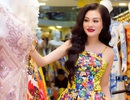 Nữ Hoàng Trần Huyền Nhung tới cửa hàng của NTK Tuấn Hải chọn trang phục đi sự kiện