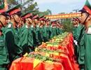 An táng 98 hài cốt liệt sĩ hi sinh ở nước bạn Lào
