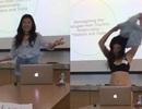 Nữ sinh bất ngờ cởi bỏ trang phục, diện nội y thuyết trình luận văn tốt nghiệp