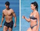 C.Ronaldo và bạn gái cùng khoe dáng bốc lửa tại bãi biển