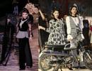 Trang Trần hầm hố với môtô, Trương Thị May ngồi thuyền thúng lên sàn catwalk