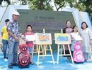 """Gần trăm em nhỏ hào hứng trổ tài vẽ tranh về chủ đề """"Việt Nam trong em"""""""