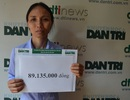 Hơn 89 triệu đồng đến với gia đình chị Tiệp