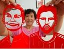 Hài hước xem World Cup trên… hình cắt giấy