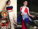 Chị em Mai Thu Huyền nóng cùng World Cup với áo dài quốc kỳ 32 nước