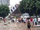Trung Quốc: Tòa nhà 6 tầng đổ sập trong chớp mắt vì mưa lũ