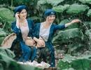 Bộ ảnh thiếu nữ vào vai chị em Tấm Cám chơi đùa bên hồ sen