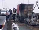 Vụ tai nạn trên cao tốc, 2 người tử vong: Container đậu trên cầu để sửa chữa