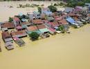 Hình ảnh nước ngập mênh mông ở ngoại thành Hà Nội