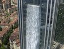 Doanh nghiệp Trung Quốc chơi trội, xây thác nước 108m làm cảnh ngoài tòa nhà