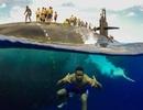 Ngoạn mục cảnh thủy thủ Mỹ bơi cạnh tàu ngầm hạt nhân