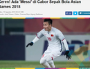 Báo Indonesia ví Quang Hải như Messi ở Asiad 2018