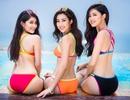 Mỹ Linh, Thanh Tú, Thuỳ Dung thả dáng nuột nà bên bể bơi dát vàng 24k