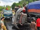 Xe container đấu đầu trên đường Hồ Chí Minh, 2 tài xế tử vong