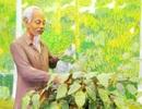 Những hình ảnh về Chủ tịch Hồ Chí Minh tại Đền thờ ở Bạc Liêu