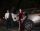 Hoa hậu Phí Thùy Linh được chồng đưa đón bằng xế hộp hạng sang